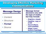 developing effective marketing communications4