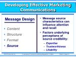 developing effective marketing communications5