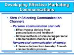 developing effective marketing communications6