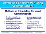 developing effective marketing communications7