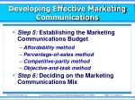 developing effective marketing communications8