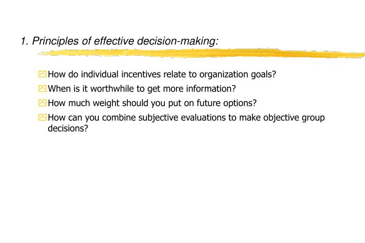 1 principles of effective decision making