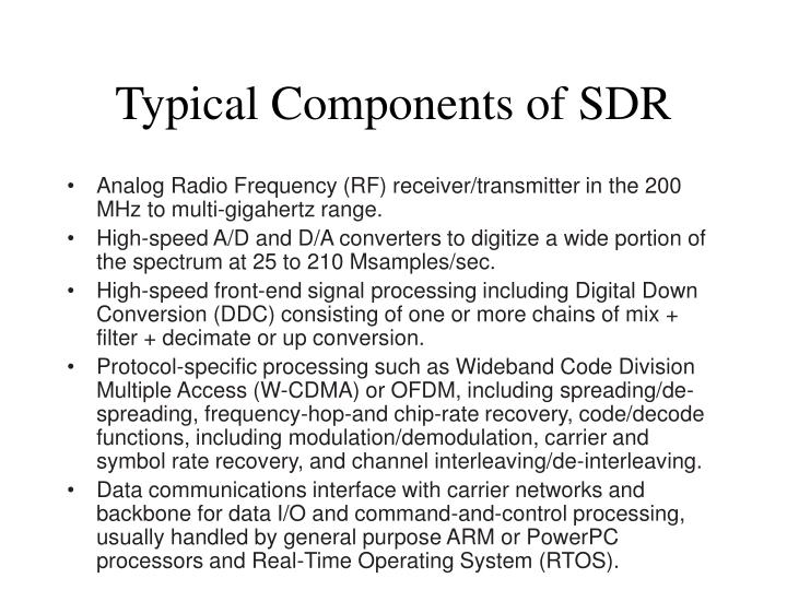 Typical Components of SDR