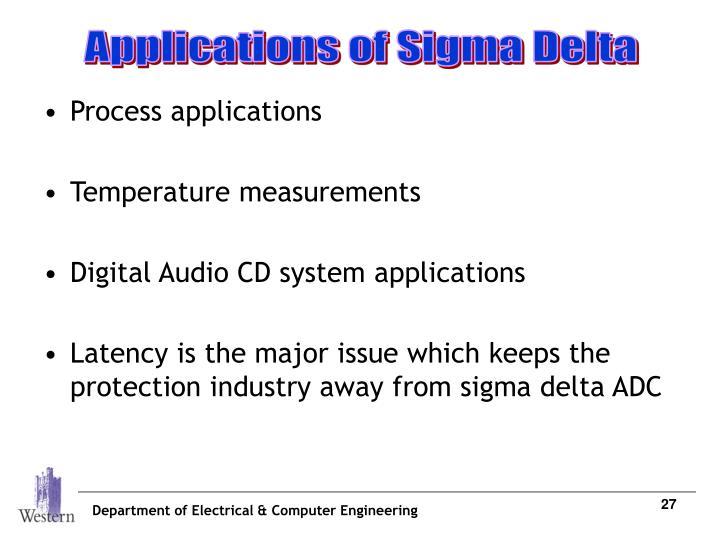 Applications of Sigma Delta