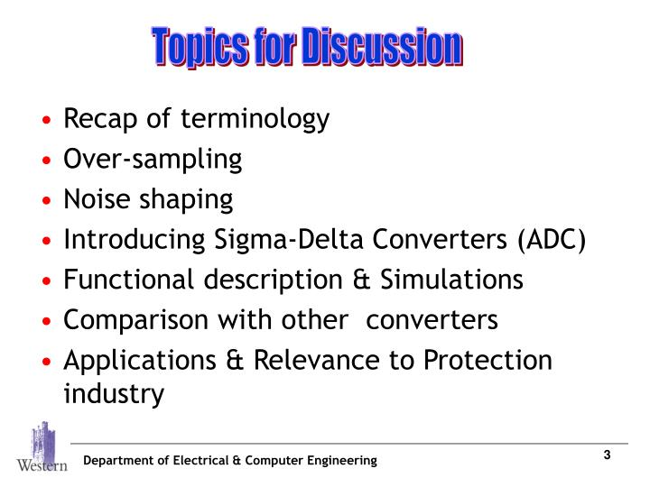 Topics for Discussion
