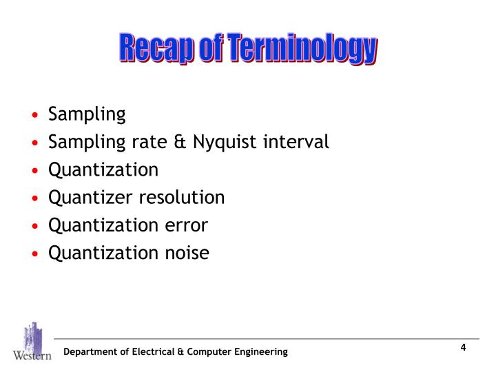 Recap of Terminology