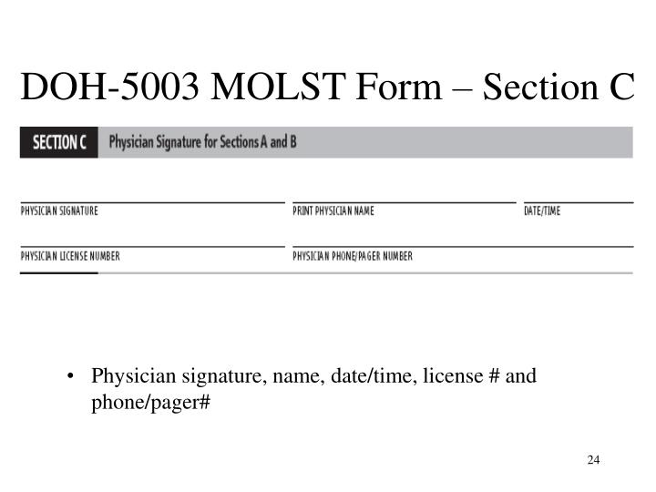 DOH-5003 MOLST Form