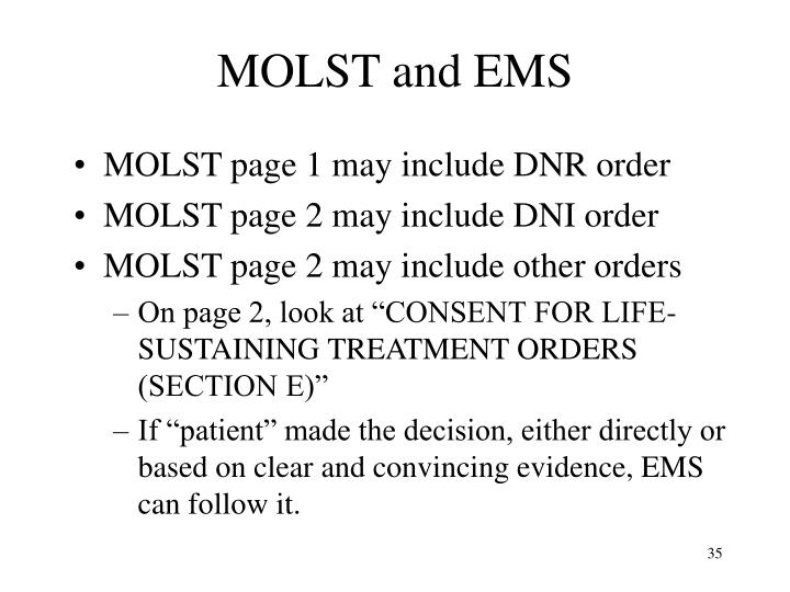 MOLST and EMS