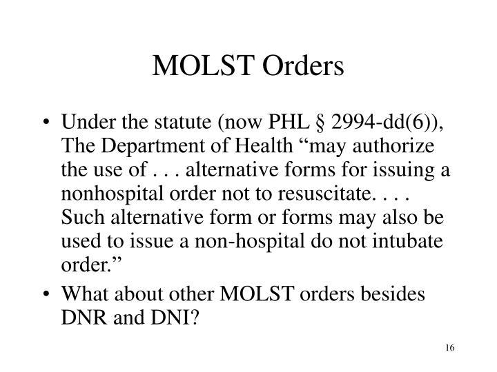 MOLST Orders