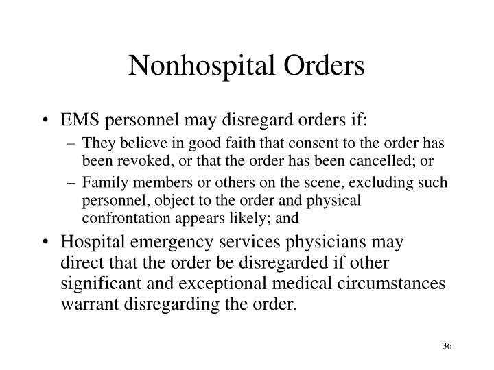 Nonhospital Orders