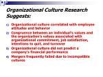 organizational culture research suggests