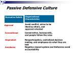 passive defensive culture