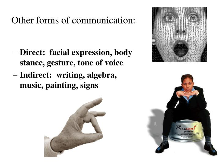 Other forms of communication: