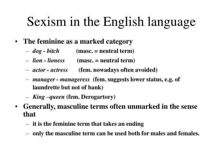 Sexism in the English language