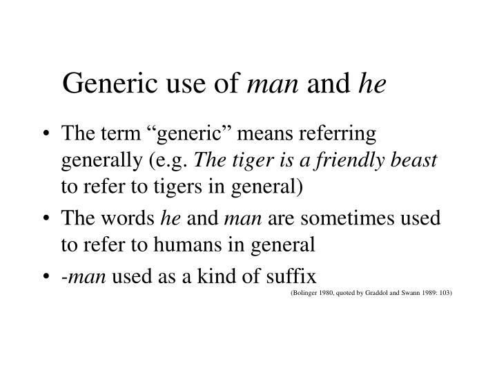 Generic use of