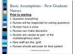 basic assumptions new graduate nurses