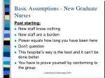 basic assumptions new graduate nurses1