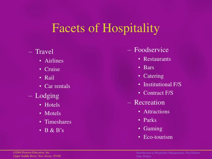 Facets of Hospitality