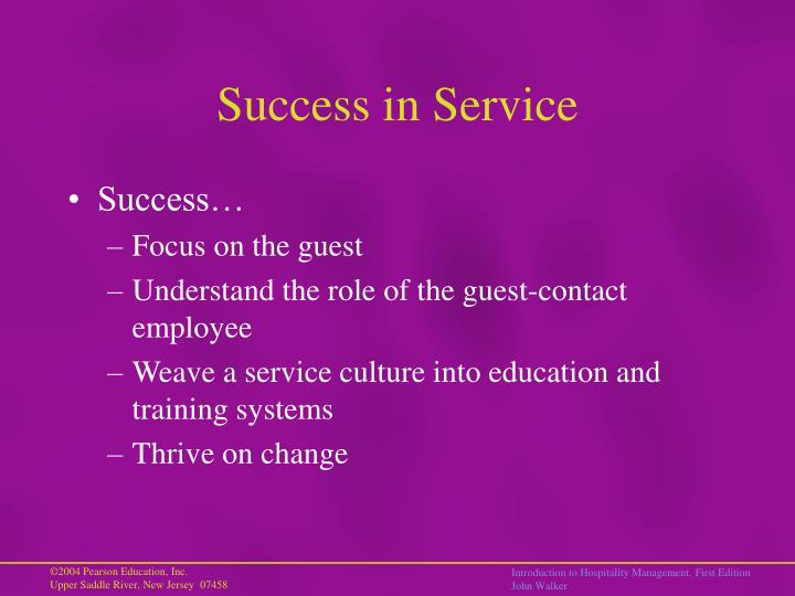 Success in Service