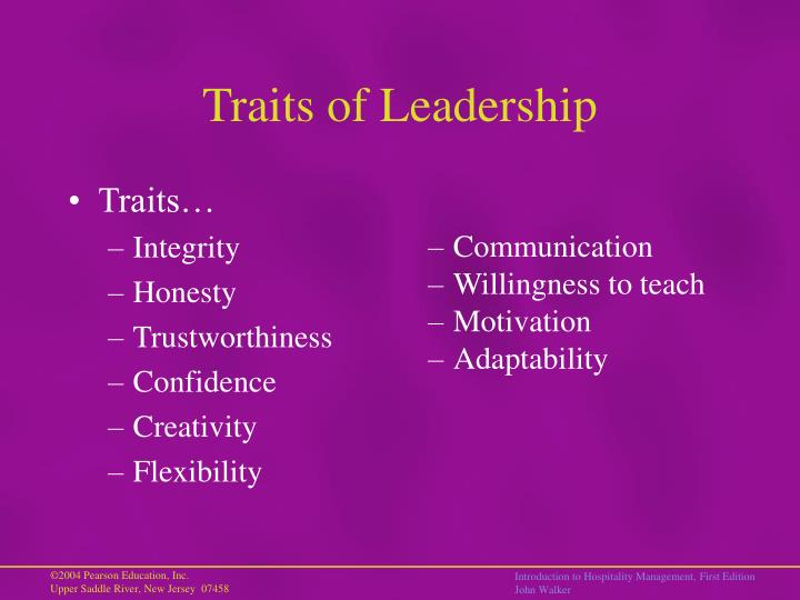 Traits of Leadership