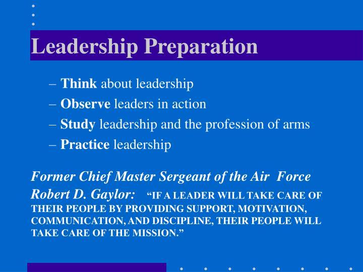 Leadership Preparation
