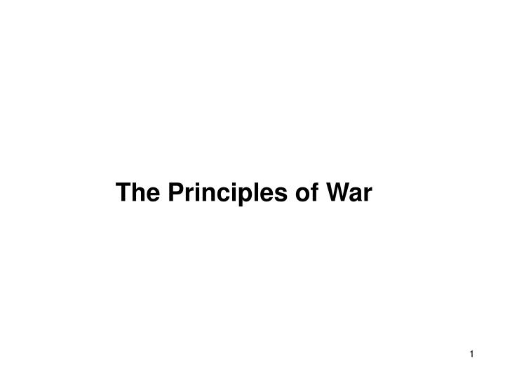 the principles of war n.