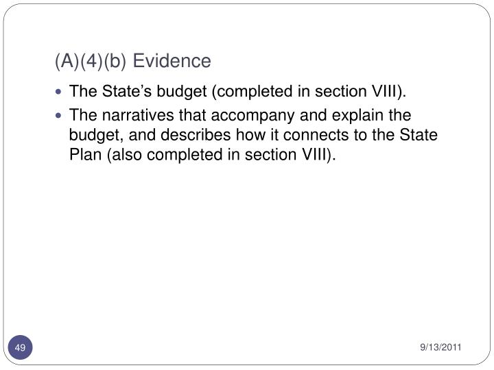 (A)(4)(b) Evidence