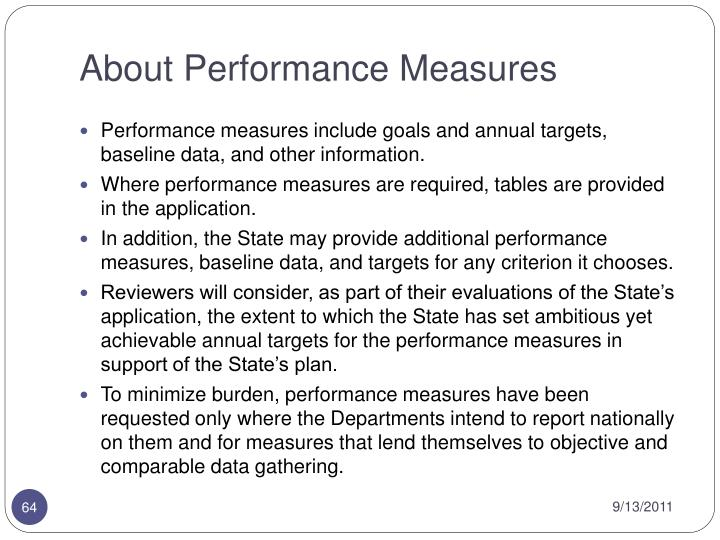 About Performance Measures