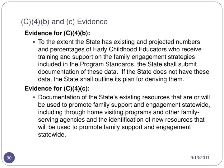 (C)(4)(b) and (c) Evidence