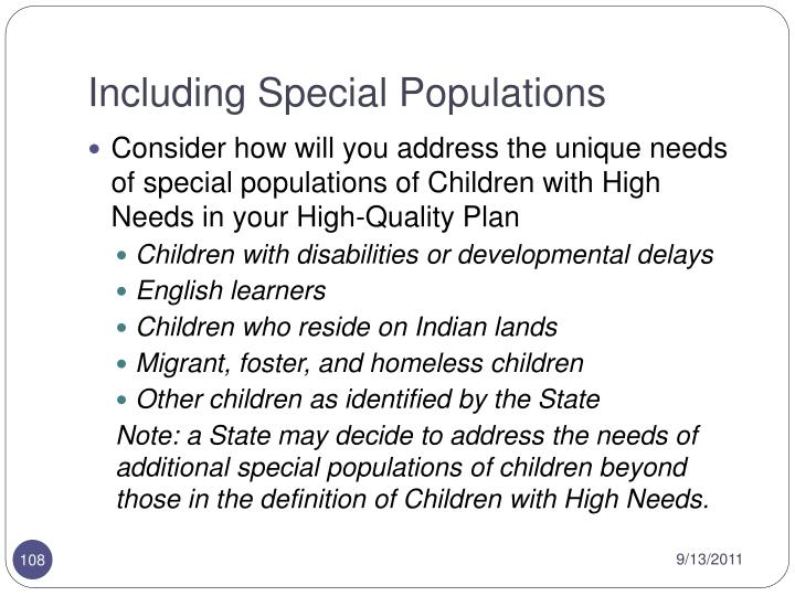 Including Special Populations