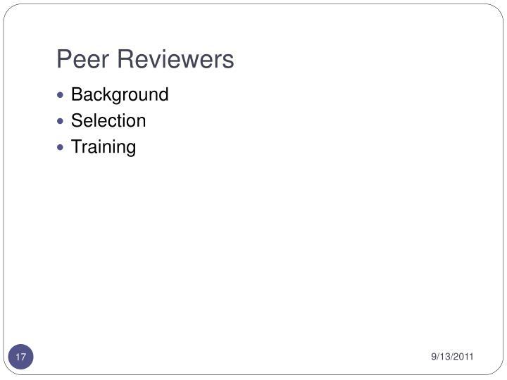 Peer Reviewers
