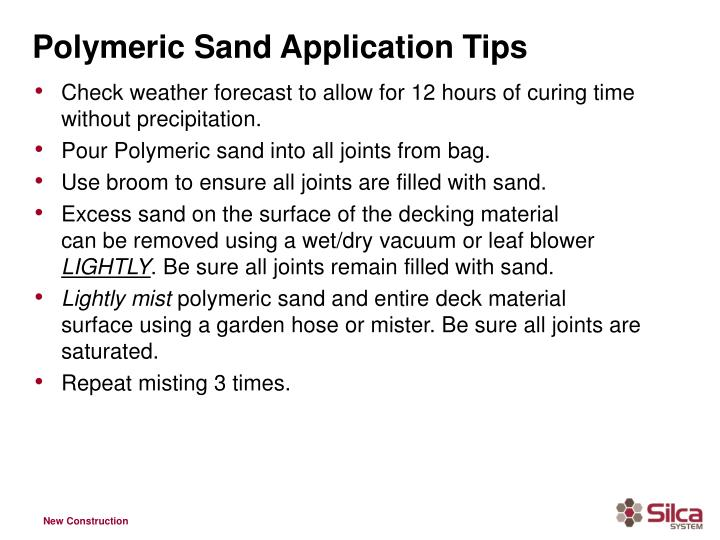 Polymeric Sand Application Tips