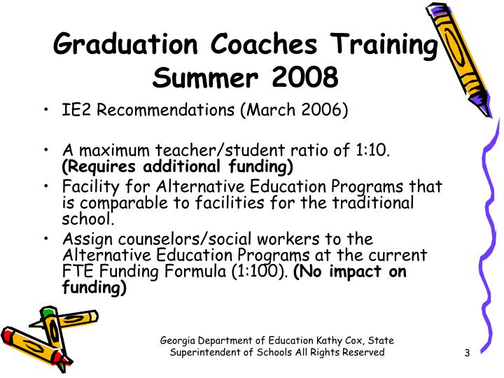 Graduation coaches training summer 20081