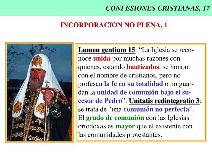 CONFESIONES CRISTIANAS, 17