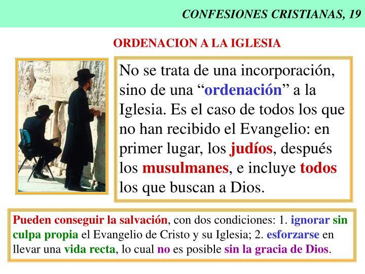 CONFESIONES CRISTIANAS, 19