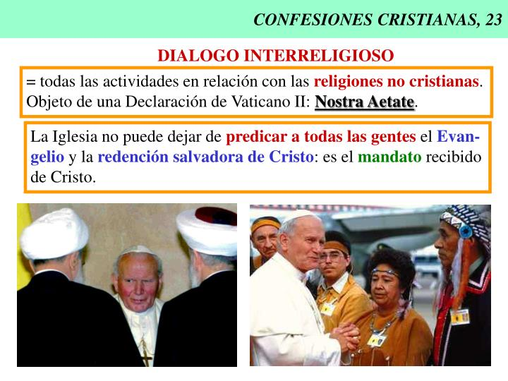CONFESIONES CRISTIANAS, 23