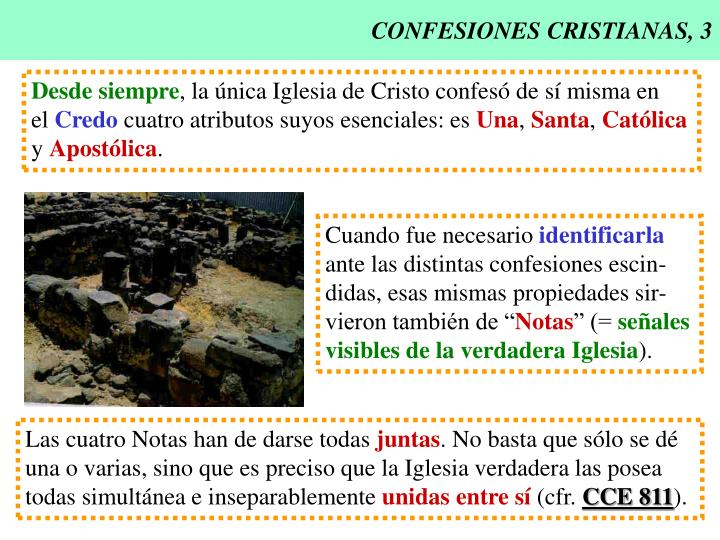 Confesiones cristianas 3