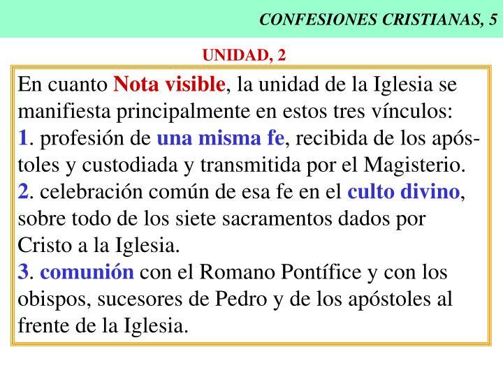 CONFESIONES CRISTIANAS, 5