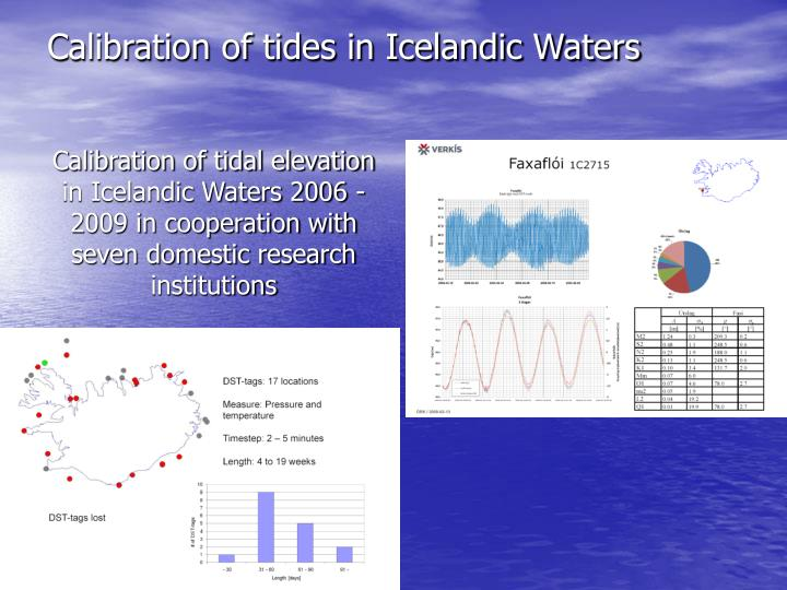 Calibration of tides in Icelandic Waters