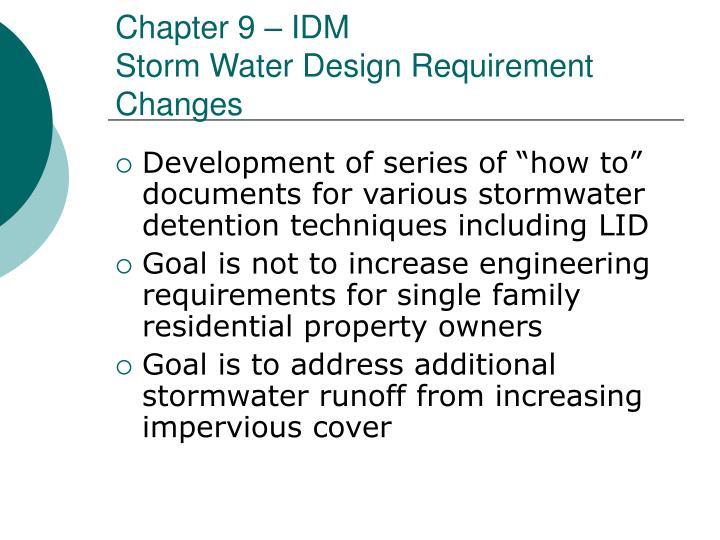 Chapter 9 – IDM