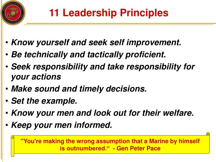 Marine Corps Leadership Traits And Principles Powerpoint Beautiful