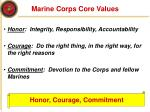 marine corps core values