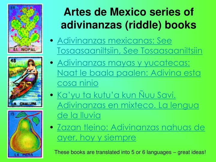 Artes de Mexico series of adivinanzas (riddle) books