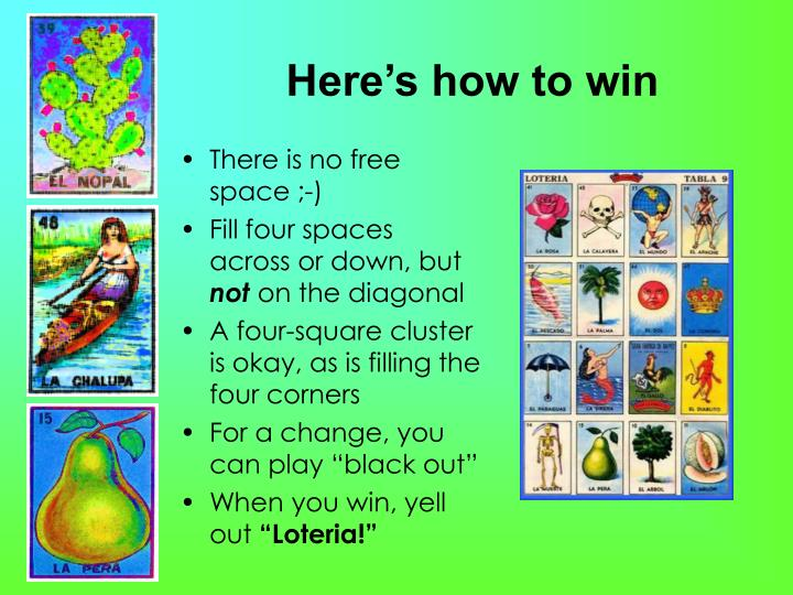 Here's how to win