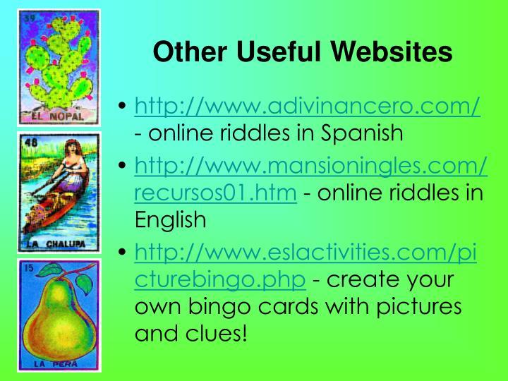 Other Useful Websites
