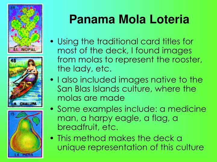 Panama Mola Loteria