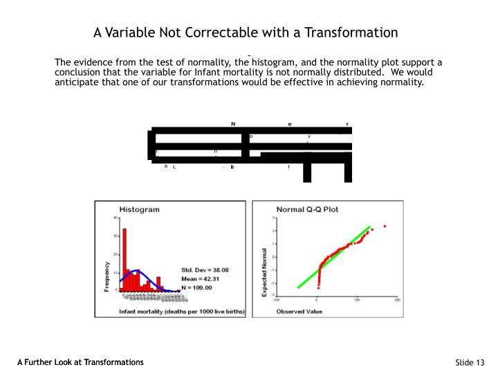 A Variable Not Correctable with a Transformation