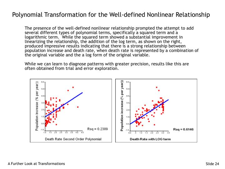 Polynomial Transformation for the Well-defined Nonlinear Relationship