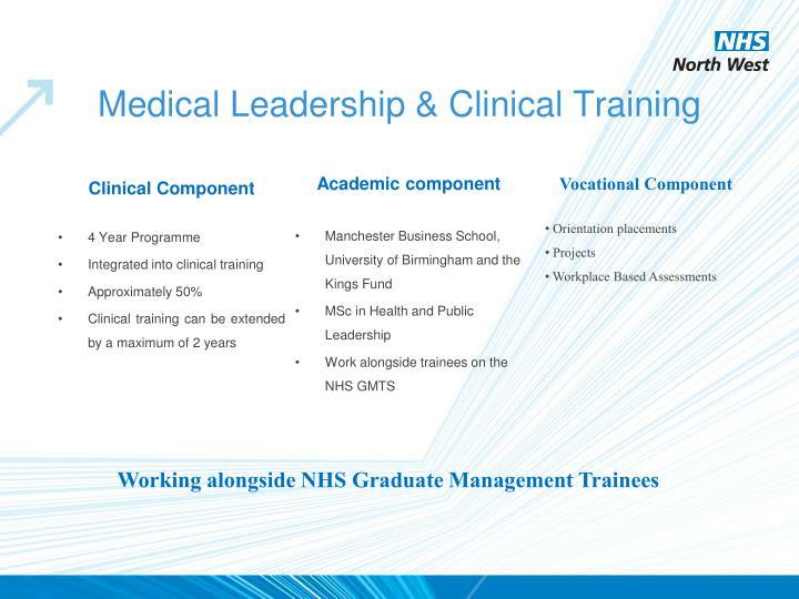 Medical Leadership & Clinical Training