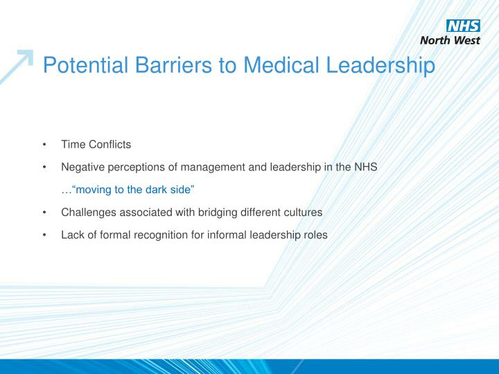 Potential Barriers to Medical Leadership